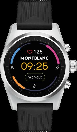 Smartwatch Montblanc Summit Lite Aluminium mit Kautschukarmband