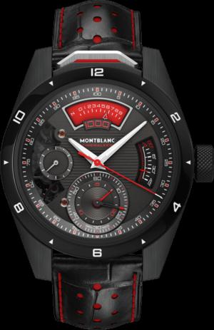 Herrenuhr Montblanc TimeWalker Chronograph 1000 Limited Edition 18 mit schwarzem Zifferblatt und Alligatorenleder-Armband