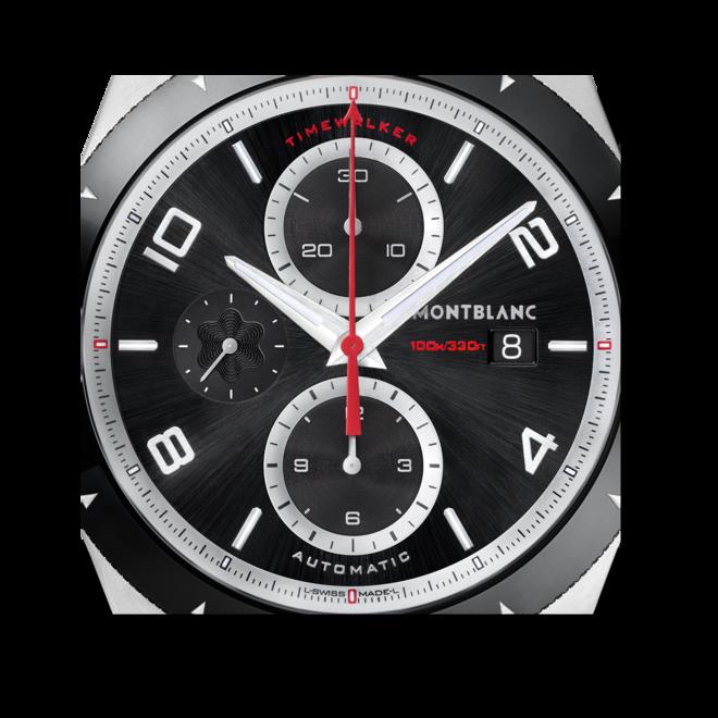 Herrenuhr Montblanc TimeWalker Chronograph Automatik mit schwarzem Zifferblatt und Kautschukarmband bei Brogle