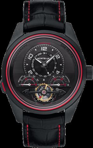 Herrenuhr Montblanc TimeWalker ExoTourbillon Minute Chronograph mit schwarzem Zifferblatt und Alligatorenleder-Armband