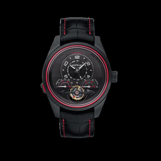 Herrenuhr Montblanc TimeWalker ExoTourbillon Minute Chronograph mit schwarzem Zifferblatt und Alligatorenleder-Armband bei Brogle