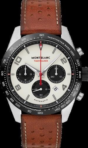 Herrenuhr Montblanc TimeWalker Manufaktur-Chronograph mit cremefarbenem Zifferblatt und Kalbsleder-Armband