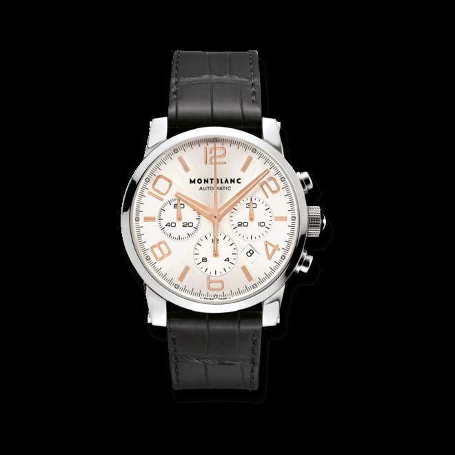 Herrenuhr Montblanc Timewalker Chronograph Automatic mit silberfarbenem Zifferblatt und Alligatorenleder-Armband