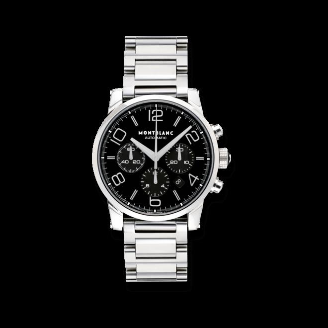 Herrenuhr Montblanc Timewalker Chronograph Automatic mit schwarzem Zifferblatt und Edelstahlarmband