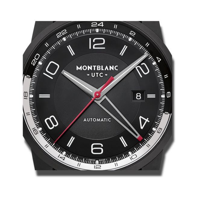 Smartwatch Montblanc Timewalker Urban Speed UTC E-Strap mit schwarzem Zifferblatt und Kalbsleder-Armband bei Brogle