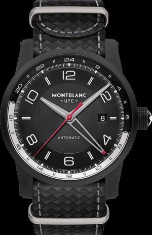 Smartwatch Montblanc Timewalker Urban Speed UTC E-Strap mit schwarzem Zifferblatt und Kalbsleder-Armband