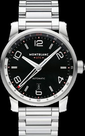Herrenuhr Montblanc Timewalker Voyager UTC mit schwarzem Zifferblatt und Edelstahlarmband
