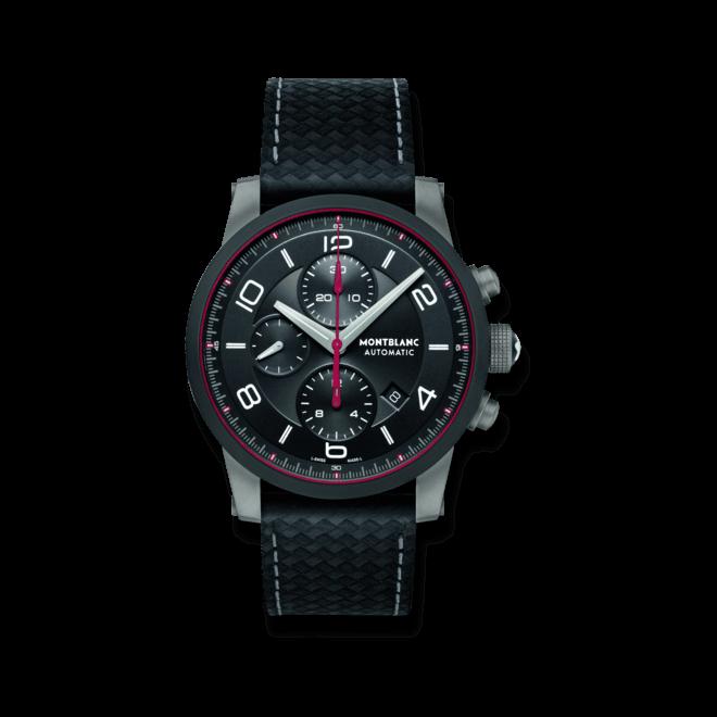 Herrenuhr Montblanc TimeWalker Urban Speed Chronograph mit schwarzem Zifferblatt und Kalbsleder-Armband