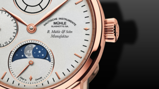 Mühle Glashütte Robert Mühle Mondphase Gold