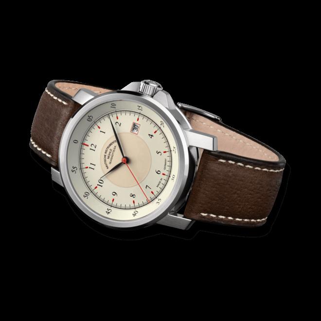 Herrenuhr Mühle Glashütte M 29 Classic mit cremefarbenem Zifferblatt und Kalbsleder-Armband bei Brogle
