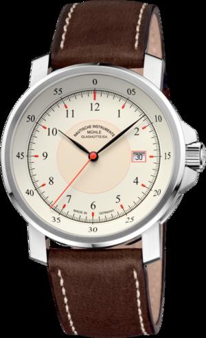 Herrenuhr Mühle Glashütte M 29 Classic mit cremefarbenem Zifferblatt und Kalbsleder-Armband