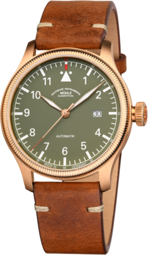 Herrenuhr Mühle Glashütte Terrasport IV Bronze mit Kalbsleder-Armband