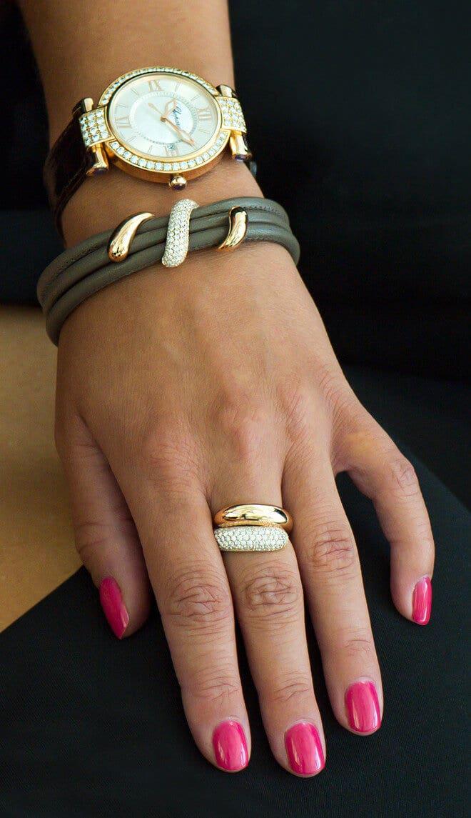 Armband noor Exclusive aus 750 Roségold mit 129 Brillanten (1,1 Karat)