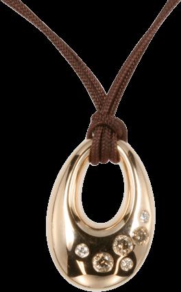 Halskette mit Anhänger noor Exclusive aus 585 Roségold mit 6 Brillanten (0,22 Karat)