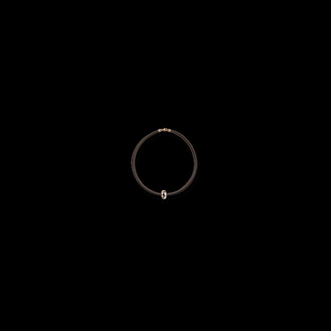 Halskette mit Anhänger noor Exclusive aus 750 Roségold und Weißgold mit 9 Diamanten (0,26 Karat)