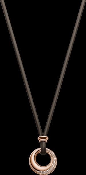 Halskette mit Anhänger noor Exclusive aus 750 Roségold mit 100 Brillanten (0,77 Karat)