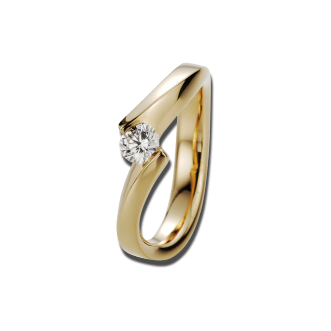 Ring noor Exclusive aus 750 Roségold mit 1 Brillant (0,33 Karat)