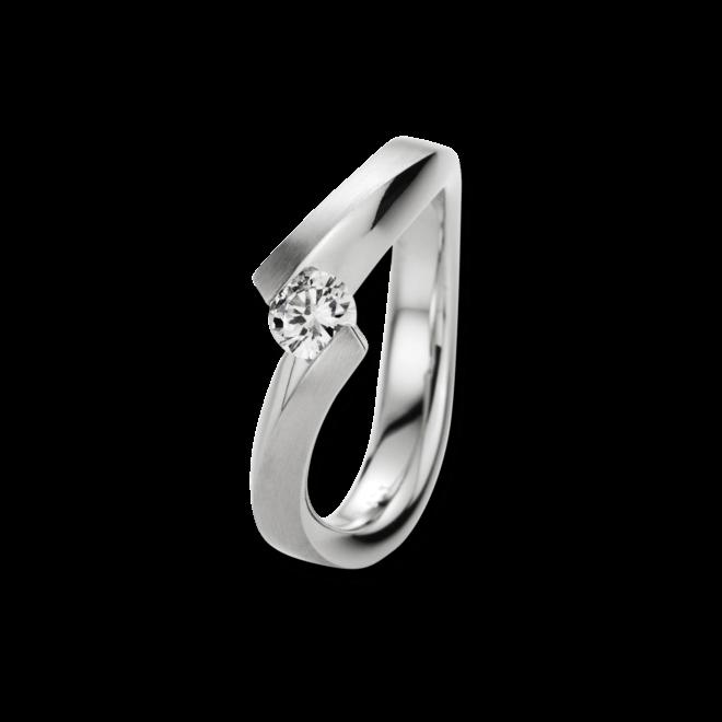 Ring noor Exclusive aus 750 Weißgold mit 1 Brillant (0,33 Karat)