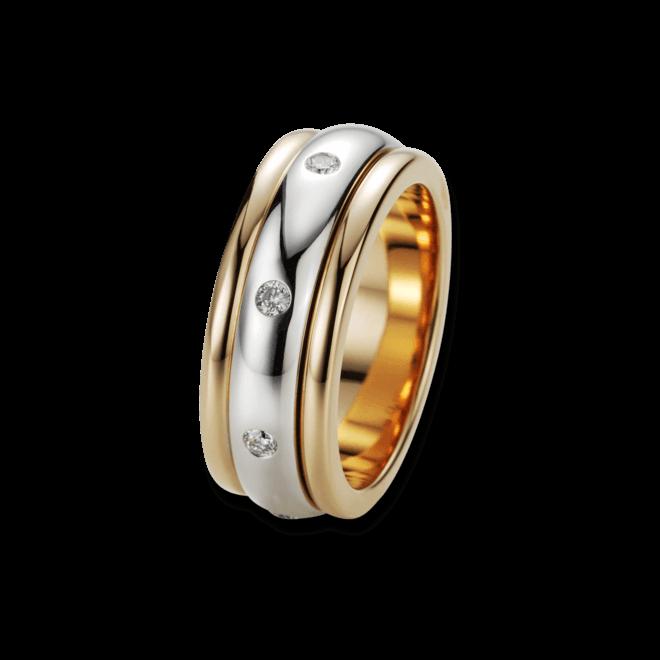 Ring noor Exclusive aus 750 Roségold und Weißgold mit 8 Brillanten (0,27 Karat)