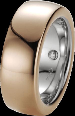 Ring noor Exclusive aus 750 Weißgold und 750 Roségold mit 1 Brillant (0,01 Karat)