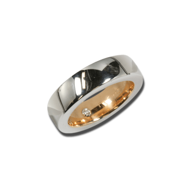Ring noor Exclusive aus 750 Weißgold und 750 Roségold