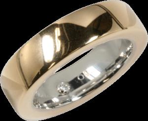 Ring noor Exclusive aus 750 Roségold und 750 Weißgold