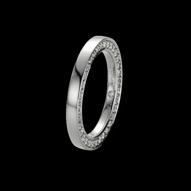 Ring noor Exclusive aus 750 Weißgold mit 35 Brillanten (0,6 Karat)