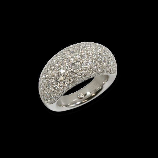 Ring noor Exclusive aus 750 Weißgold mit 192 Brillanten (3,31 Karat)