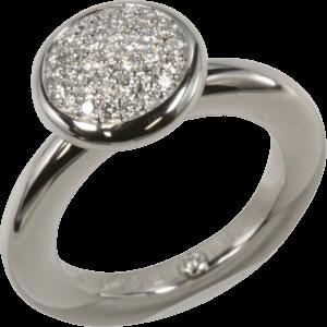 Ring noor Exclusive aus 750 Weißgold mit 37 Brillanten (0,42 Karat)