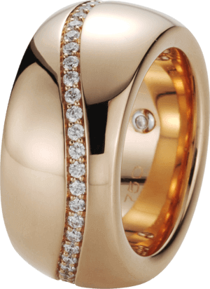 Ring noor Exclusive aus 750 Roségold mit 49 Brillanten (0,62 Karat)