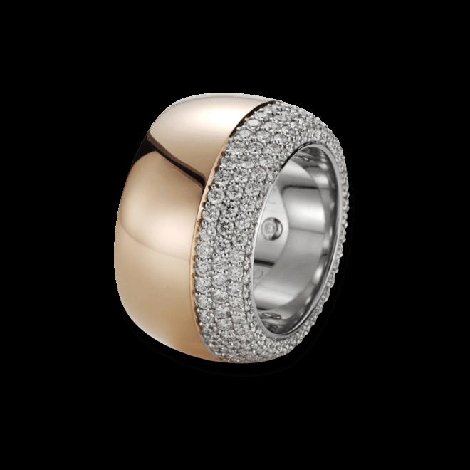 Ring noor Exclusive aus 750 Roségold und 750 Weißgold mit 176 Brillanten (2,08 Karat)