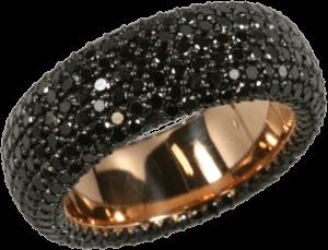 Ring noor Exclusive aus 750 Roségold mit 432 Brillanten (4,66 Karat)