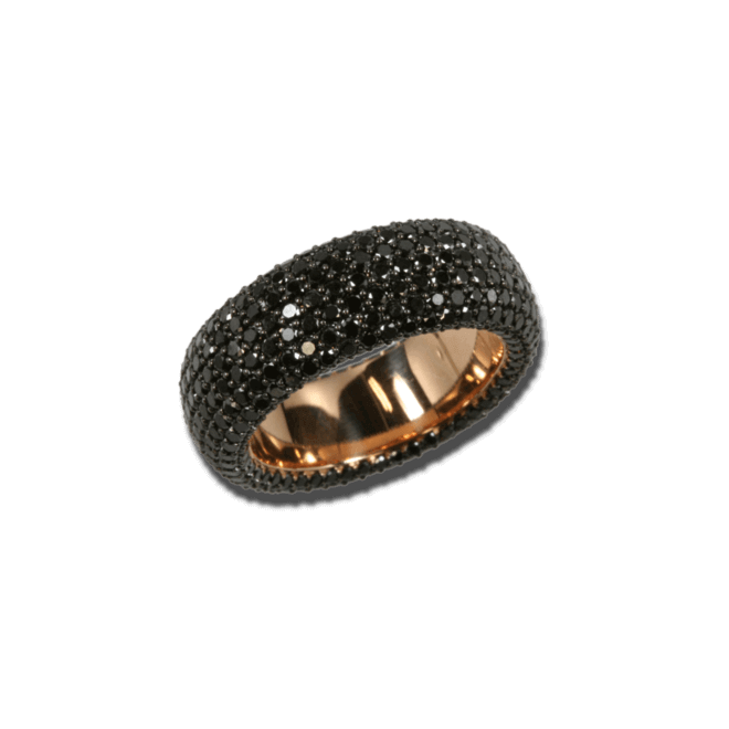 Ring noor Exclusive aus 750 Roségold mit 432 Brillanten (4,66 Karat)