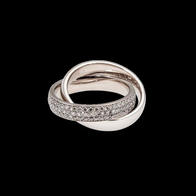 Ring noor Exclusive aus 750 Weißgold mit 144 Brillanten (1,7 Karat) Größe 58 bei Brogle
