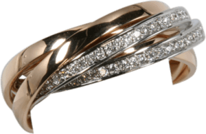 Ring noor Exclusive aus 750 Roségold mit mehreren Brillanten (0,6 Karat)