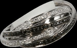 Ring noor Exclusive aus 750 Weißgold mit mehreren Brillanten (0,65 Karat)