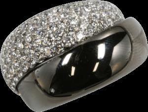 Ring noor Exclusive aus 750 Weißgold mit 100 Brillanten (2,28 Karat)