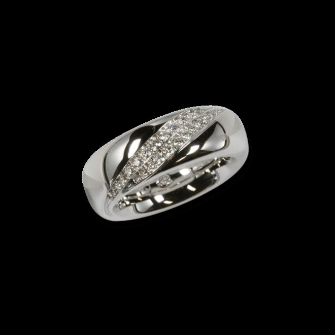 Ring noor Exclusive aus 750 Weißgold mit 31 Diamanten (0,36 Karat)