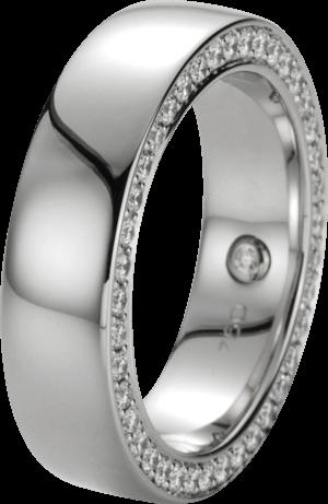Ring noor Exclusive aus 750 Weißgold mit 41 Brillanten (0,48 Karat)