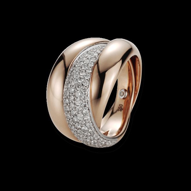 Ring noor Exclusive aus 750 Weißgold und 750 Roségold mit 111 Brillanten (1,11 Karat) Größe 53 bei Brogle