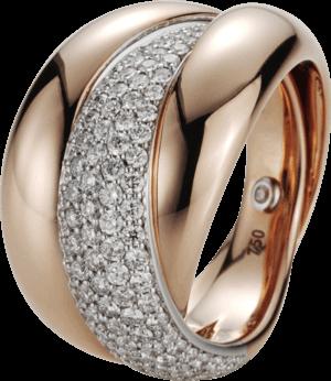 Ring noor Exclusive aus 750 Weißgold und 750 Roségold mit 111 Brillanten (1,11 Karat) Größe 53