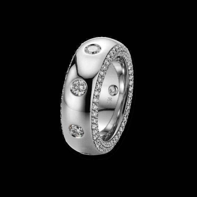 Ring noor Exclusive aus 750 Weißgold mit 201 Diamanten (3,93 Karat)
