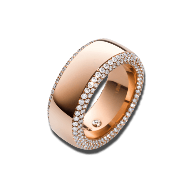 Ring noor Exclusive aus 750 Roségold mit 318 Brillanten (1,75 Karat)