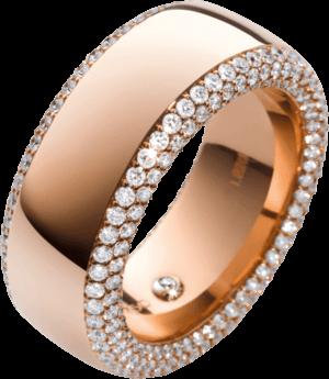 Ring noor Exclusive aus 750 Roségold mit 318 Brillanten (1,75 Karat)