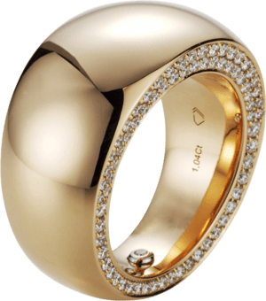 Ring noor Exclusive aus 750 Roségold mit 143 Brillanten (1,04 Karat)