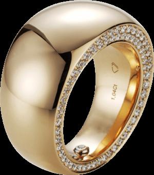 Ring noor Exclusive aus 750 Roségold mit 143 Brillanten (1,04 Karat)