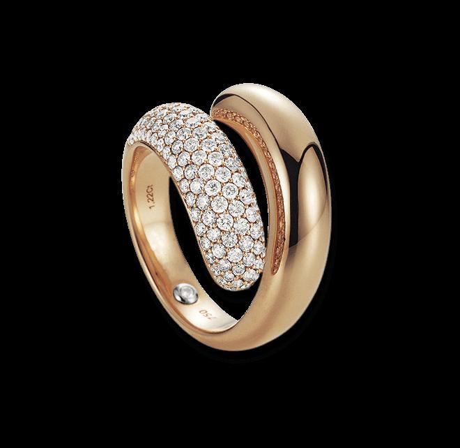 Ring noor Exclusive aus 750 Roségold mit 134 Brillanten (1,22 Karat)