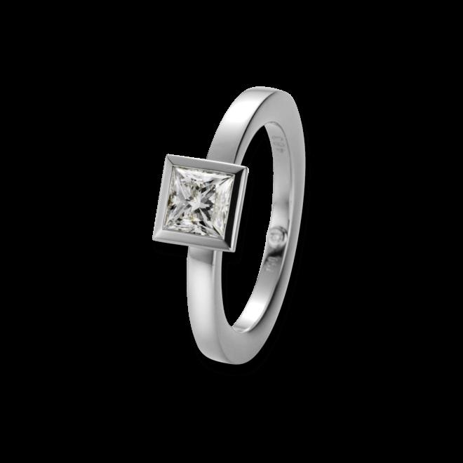 Solitairering noor Exclusive aus 750 Weißgold mit 1 Diamant (1,01 Karat)