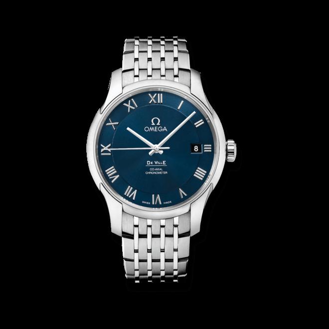 Herrenuhr Omega De Ville Co-Axial 41mm mit blauem Zifferblatt und Edelstahlarmband