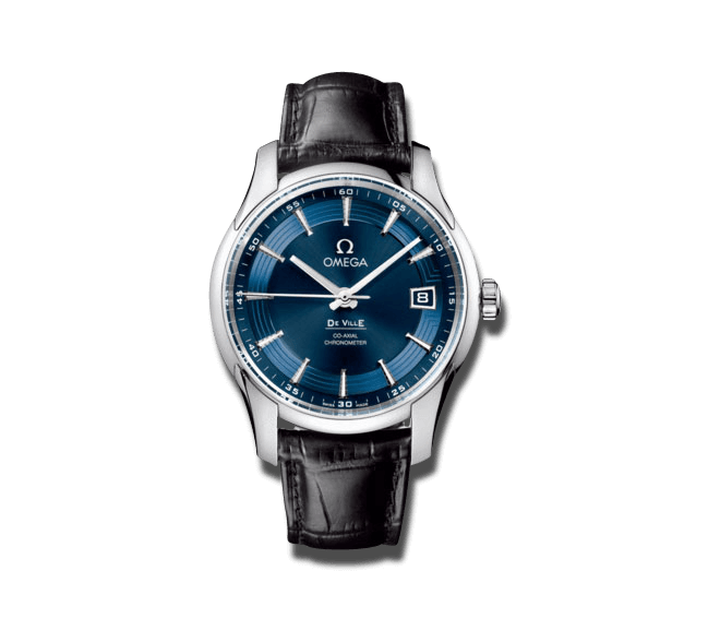 """Herrenuhr Omega De Ville Hour Vision Blue """"Orbis"""" Co-Axial 41mm mit blauem Zifferblatt und Krokodilleder-Armband"""